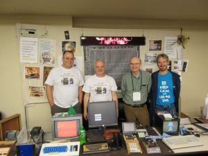 Josh Bensadon, Lee Hart, Bill Rowe, and Dave Ruske in the COSMAC exhibit at VCFMW 9.0